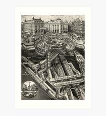 Vintage Leicester Square Art Print