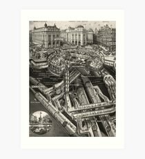 Vintage Leicester Square Art Print