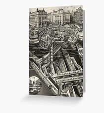 Vintage Leicester Square Greeting Card