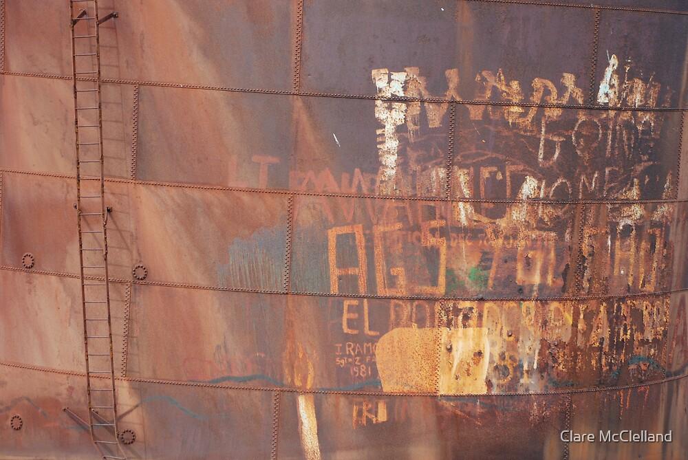 Rusty Graffiti by Clare McClelland