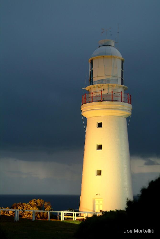 Twilight Rain, Cape Otway Lightstation by Joe Mortelliti