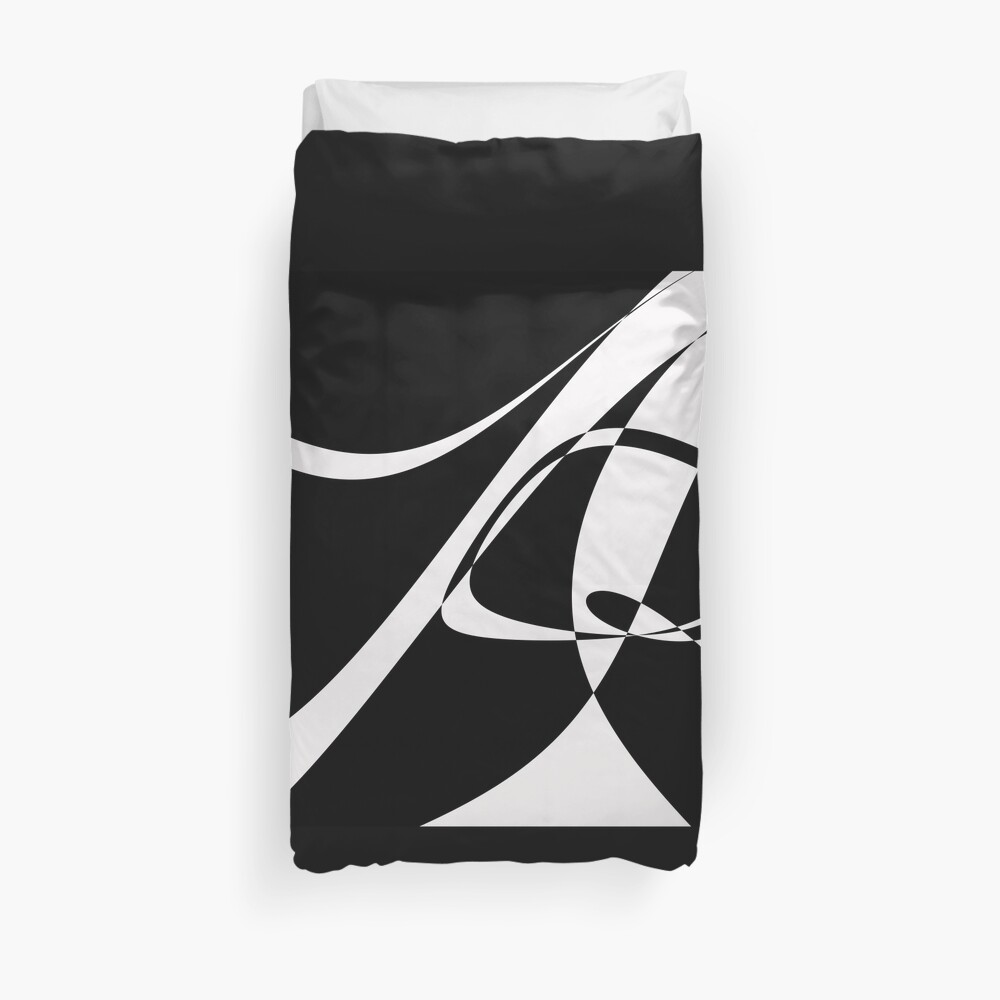 Black and White with Loop by Julie Everhart Duvet Cover