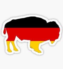 German Flag - Bison Sticker