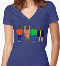 Cool Runnings to Calgary Women's Fitted V-Neck T-Shirt