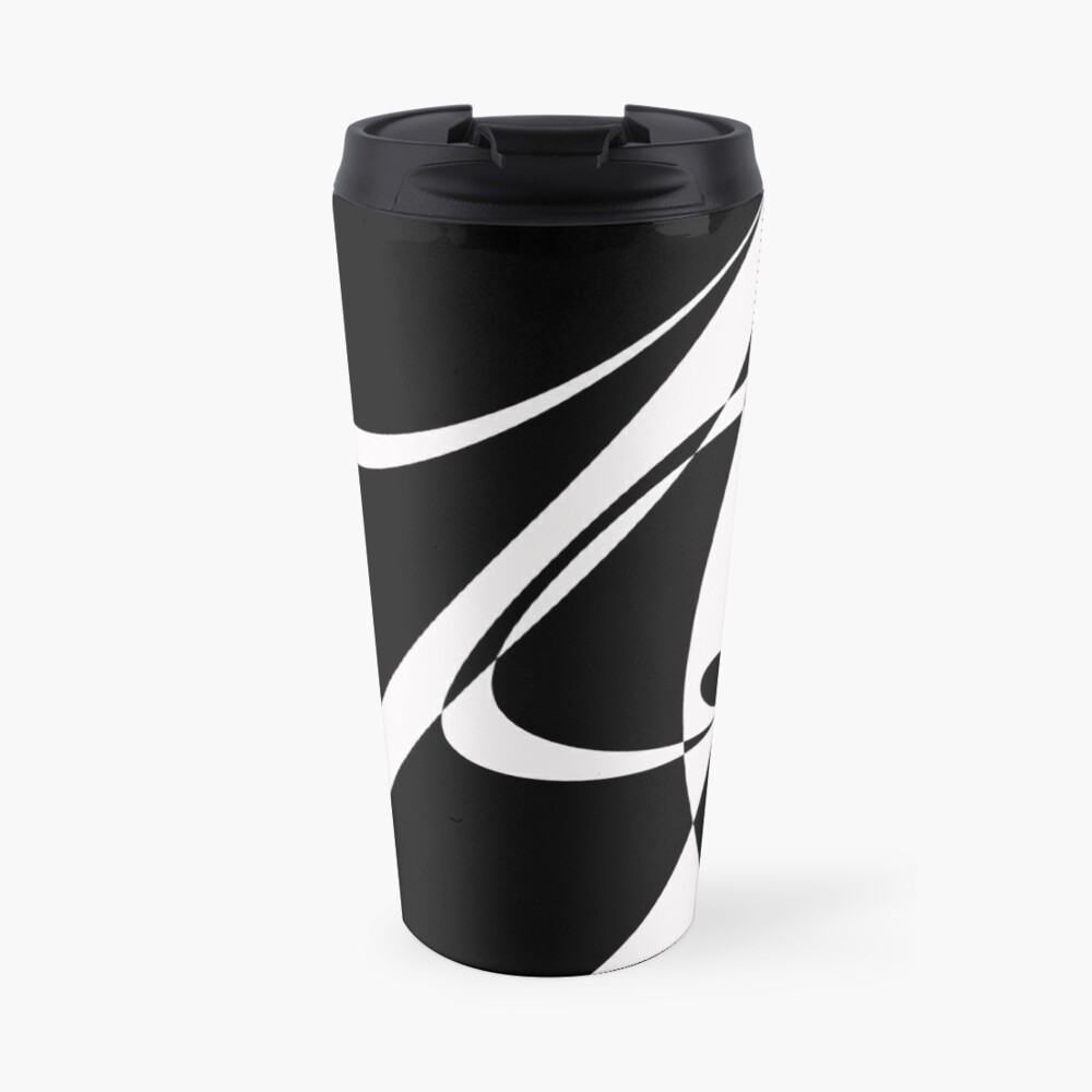 Black and White with Loop by Julie Everhart Travel Mug