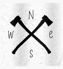 compass & axes Poster