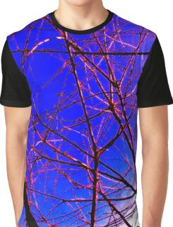 Colorful Red and Blue Bough Design Graphic T-Shirt