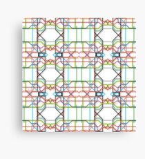 Tube Lines Canvas Print