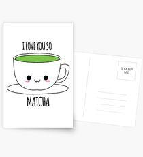 I Love You So Matcha Postcards