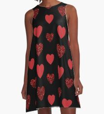 Perfect valentines heart style illustration A-Line Dress