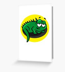 Silly Cartoon Lizard Greeting Card