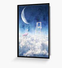 Flamingo Nights Greeting Card