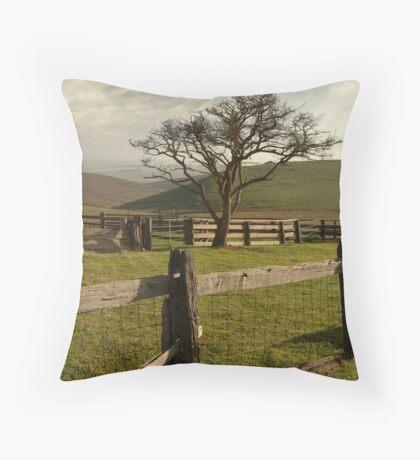 Barrabool Hills Cattle Yard Throw Pillow