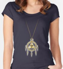 Yu-Gi-Oh! Shining Millennium Ring Women's Fitted Scoop T-Shirt
