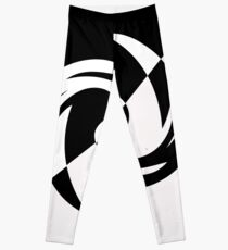 Half and Half with Spin ( black and white) by Julie Everhart Leggings