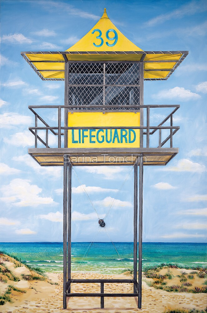 lifeguard hut by Sarina Tomchin