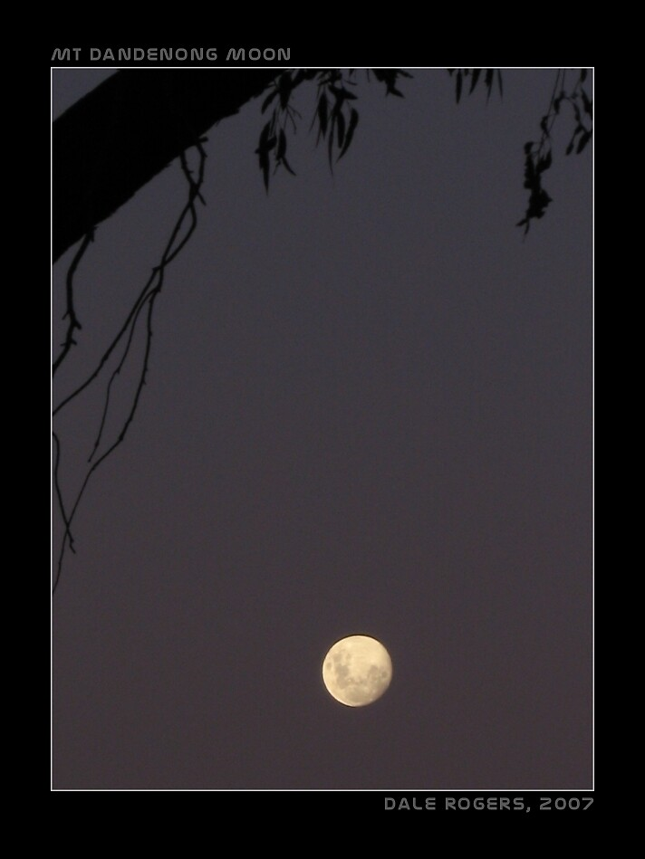 Mt Dandenong Moon by Photo Rangers