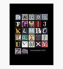 Irish Alphabet Photographic Print