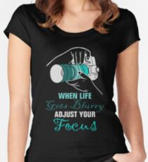 Funny Photography Saying for Artist, Photographer, and Camera Lover Women's Fitted Scoop T-Shirt