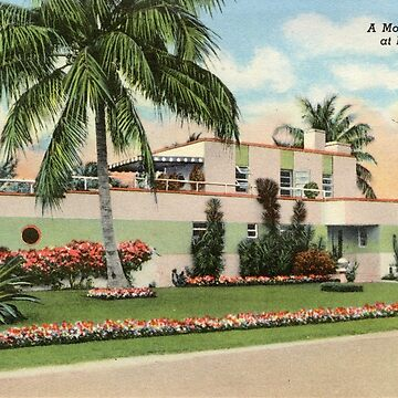 A Modernistic Home at Miami Beach, Florida Vintage Postcard by Framerkat