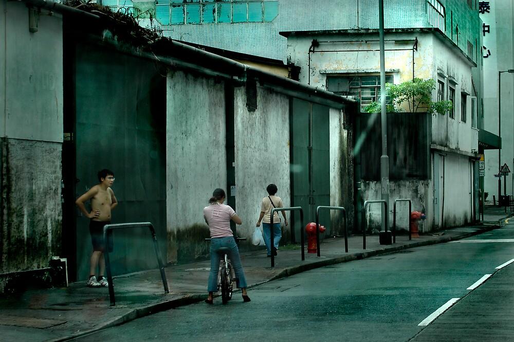 Hong Kong back streets by Melinda Kerr