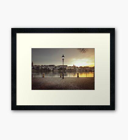 By the Rhein, Basel. Framed Print