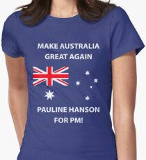 Pauline Hanson for PM! Women's Fitted T-Shirt