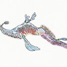 Weedy Sea Dragon (digitised water colour) by Neroli Henderson