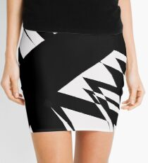 Black and White #8 by Julie Everhart Mini Skirt