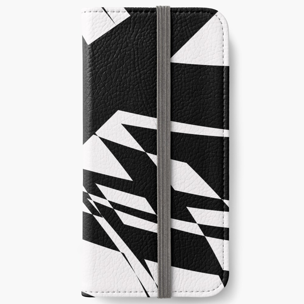 Black and White #8 by Julie Everhart iPhone Wallet