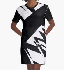 Black and White #8 by Julie Everhart Graphic T-Shirt Dress