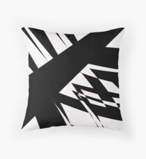 Black and White #8 by Julie Everhart Throw Pillow