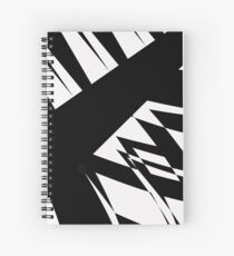Black and White #8 by Julie Everhart Spiral Notebook