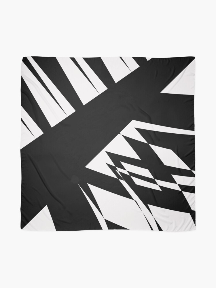 Alternate view of Black and White #8 by Julie Everhart Scarf