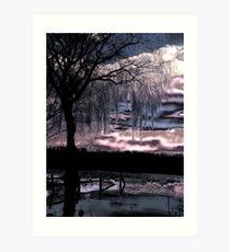 Metalic Sunset Art Print