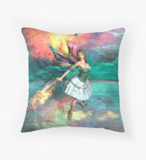 Faery in flight Throw Pillow