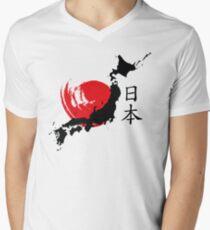 Japan Men's V-Neck T-Shirt