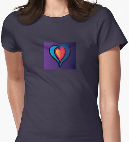 Warm Heart Womens Fitted T-Shirt