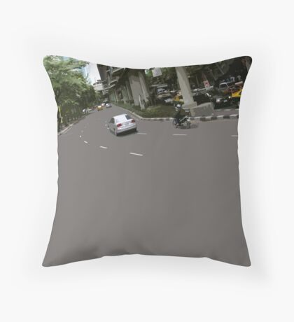 asphalt & bridges 1 Throw Pillow