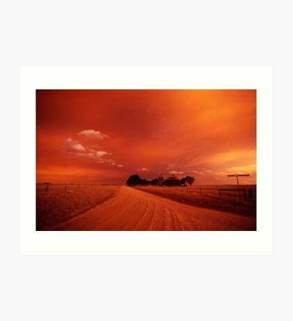 bushfire sky II Art Print