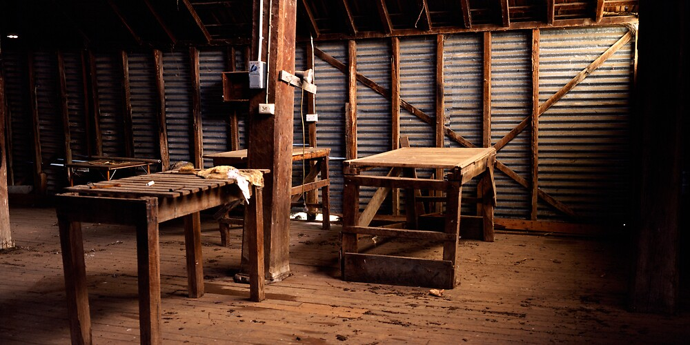 Shearing Shed - Balmorral - Victoria by James Pierce