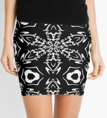 Black and White #9 by Julie Everhart Mini Skirt