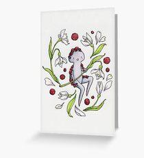 Garnet & Snowdrops -- card Greeting Card