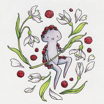 Garnet & Snowdrops -- card by HelloSpriggan
