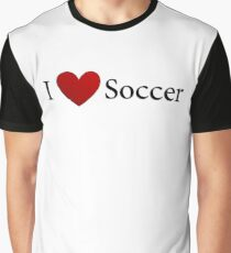 I Love Soccer Graphic T-Shirt