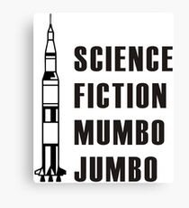 Science Fiction Mumbo Jumbo Apollo! Canvas Print