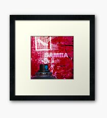 Graffiti Canvas Framed Print