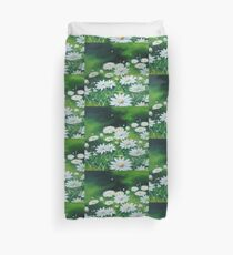 White Daises Duvet Cover