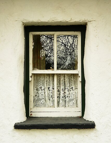 Irish Country Cottage Window by Donny Ocleirgh