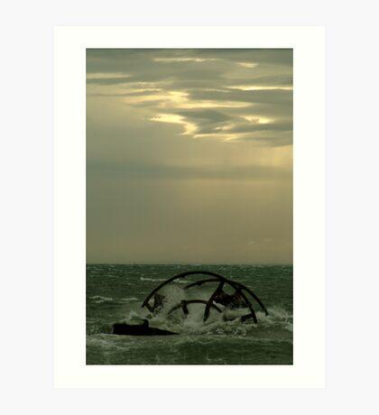 Ozone Shipwreck,Indented Heads Art Print